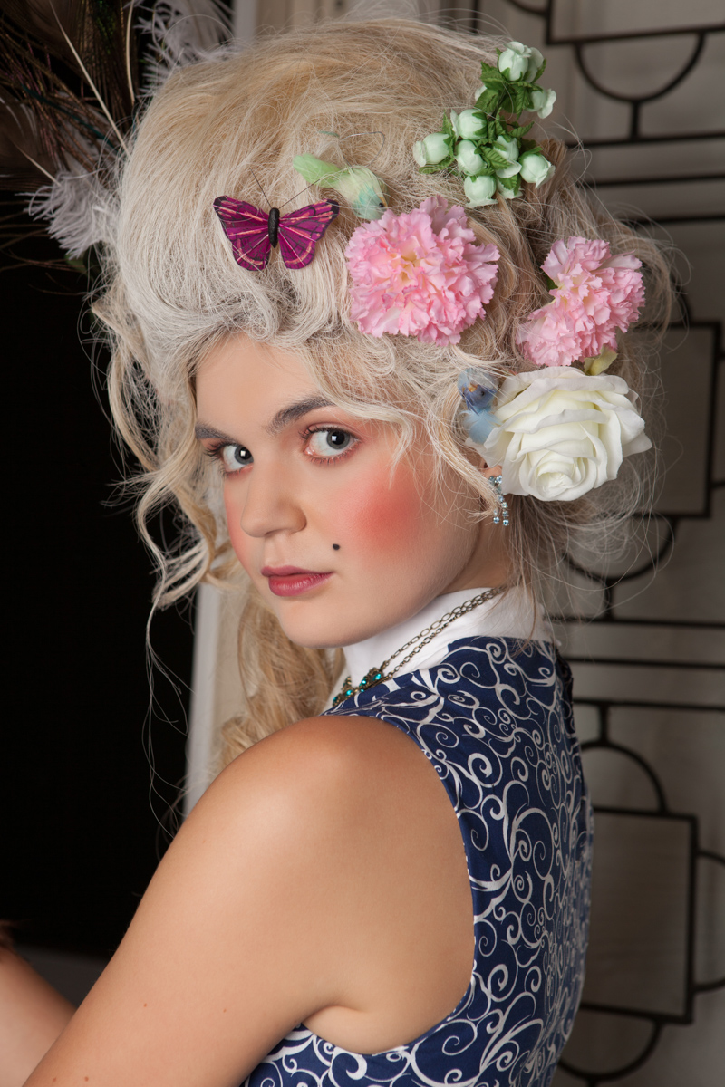 Portrait with flowers in hair | San Diego Fashion Photography