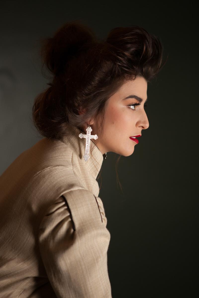 Model: Dulce Aguilar  |  Designer: Cherry Duong
