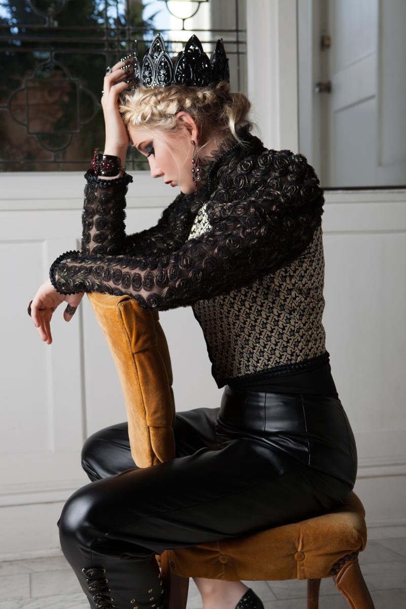 Glorietta Bay Inn Hotel - Model in a chair | San Diego Fashion Photography