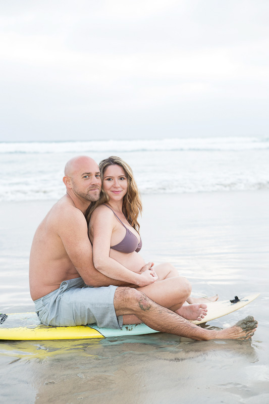 Beach Maternity Photos of Love in San Diego