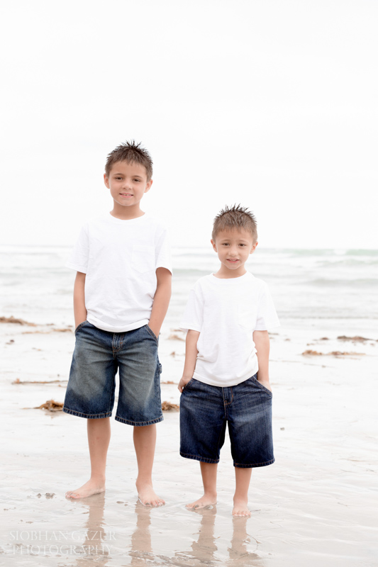 San Diego Family Portraits in La Jolla and Solana Beach Photo Session,Brothers