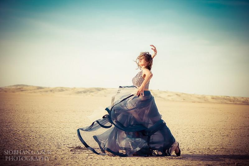 San Diego Fashion Photographer | Portrait of Woman, Musician - Artist,Dancing | California Desert
