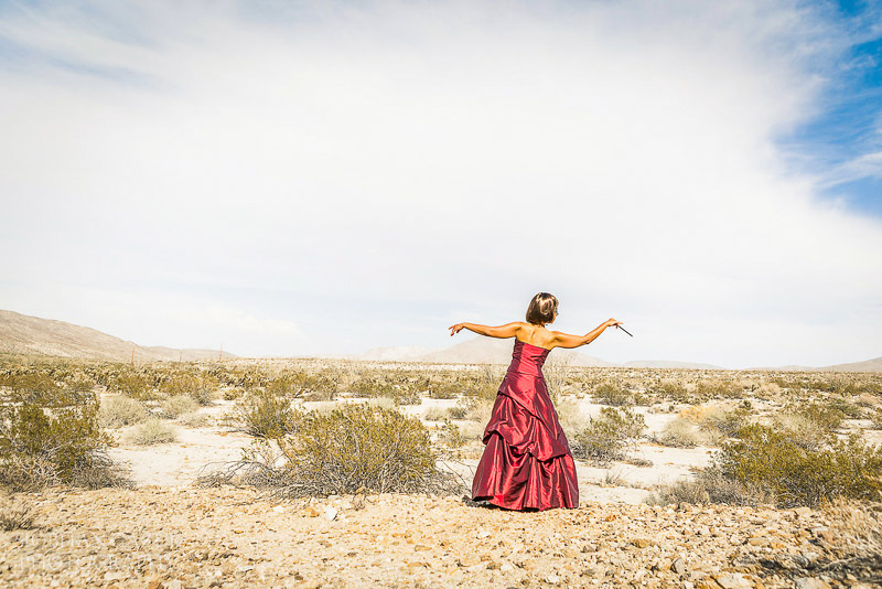 San Diego Fashion Photographer Portrait of a Woman Musician California Desert