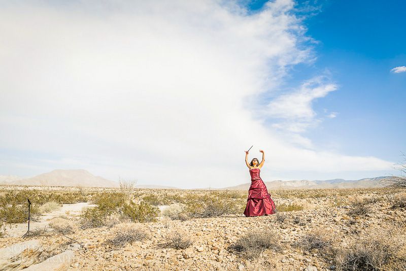 San Diego Portrait Photographer for Woman Musician California Desert Photography