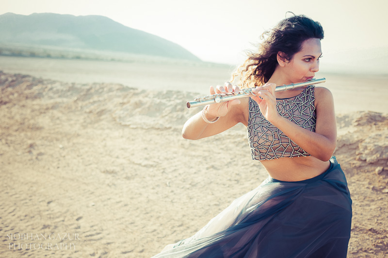 San Diego Portrait Photographer for Woman Artist Flute California Desert Photography