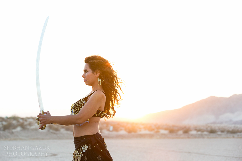 San Diego Fashion Photographer - Portrait of a Woman - Musician Dancer - Sunset California Desert