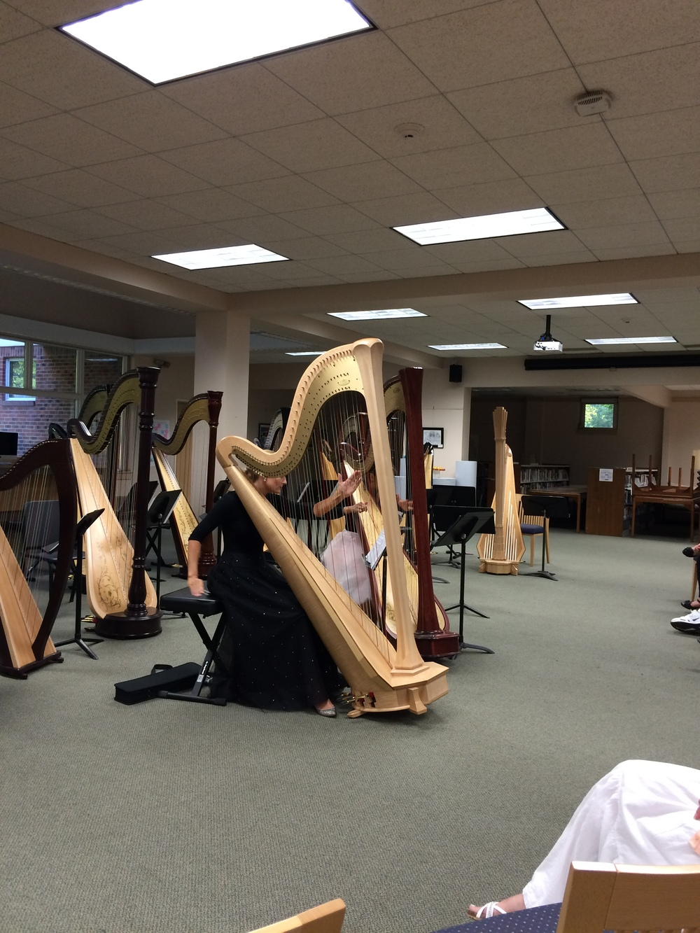 "Beyond Pluck playing Bernard Andres' ""Parvis,"" one of my favorite pieces for harp duo!"