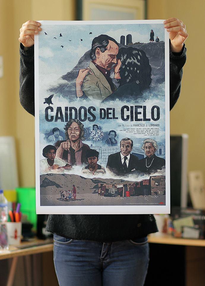 Poster 'CAIDOS DEL CIELO  Impresión en papel HQ waterproof 55 x 40 cm ----  S/.75  /  US$25   1.20 x 70 cm ---- S/.130  /  US$40  EN STOCK