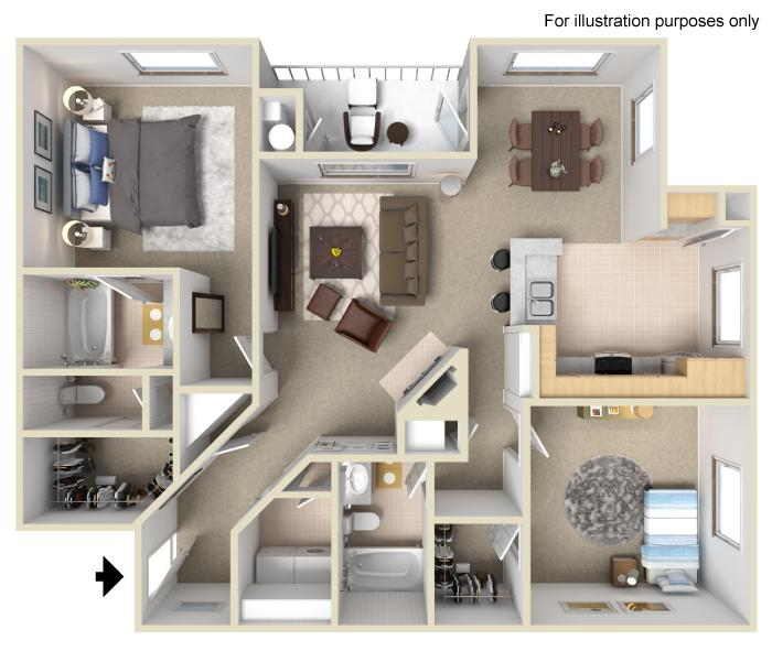 Two Bedroom | Two Bath (R4)