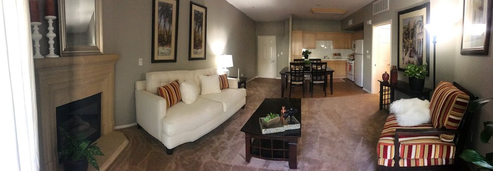 Panorama of living area