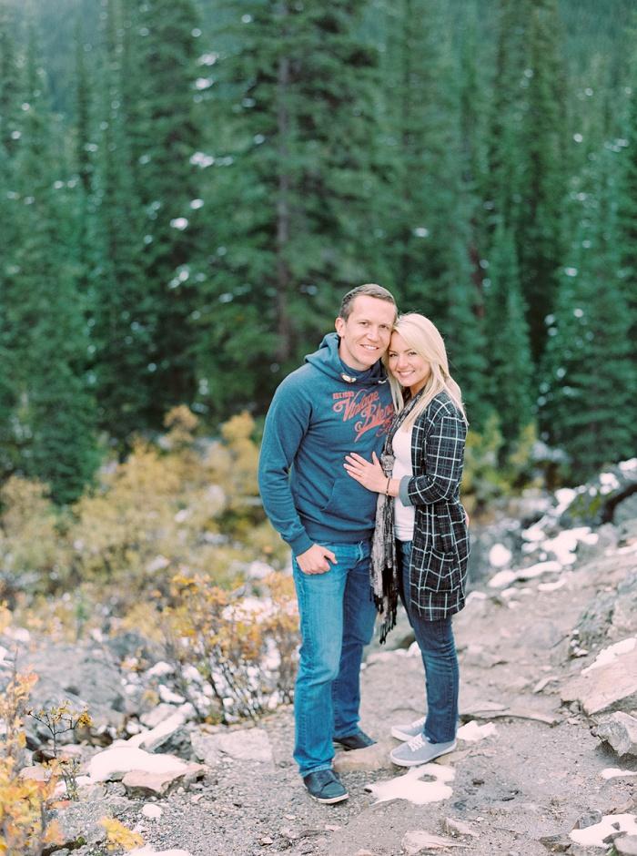 Moraine Lake Lodge Proposal | Calgary Wedding Photographers | Justine Milton Photography