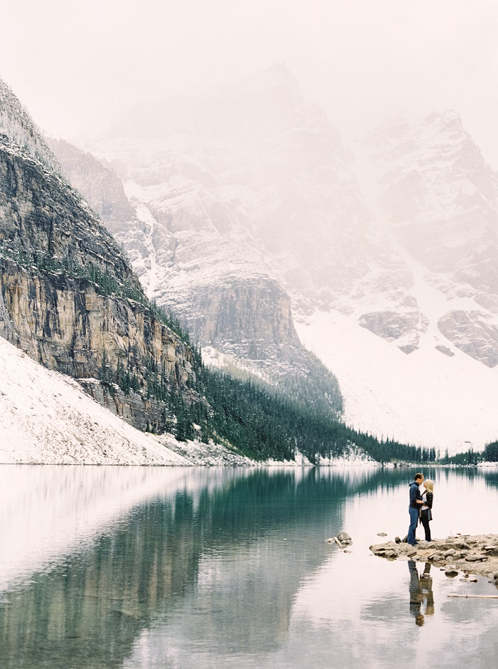 Moraine Lake Lodge Proposal | Calgary Wedding Photographers | Justine Milton Photography