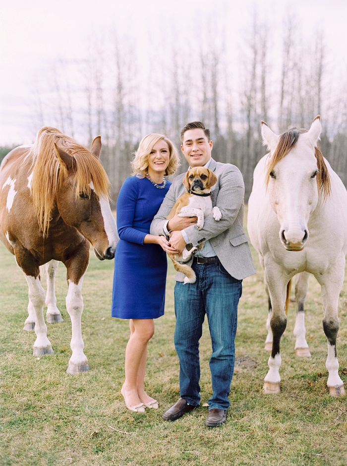 Calgary Wedding Photographers | Priddis Engagement Session | Justine Milton Photography | Horses