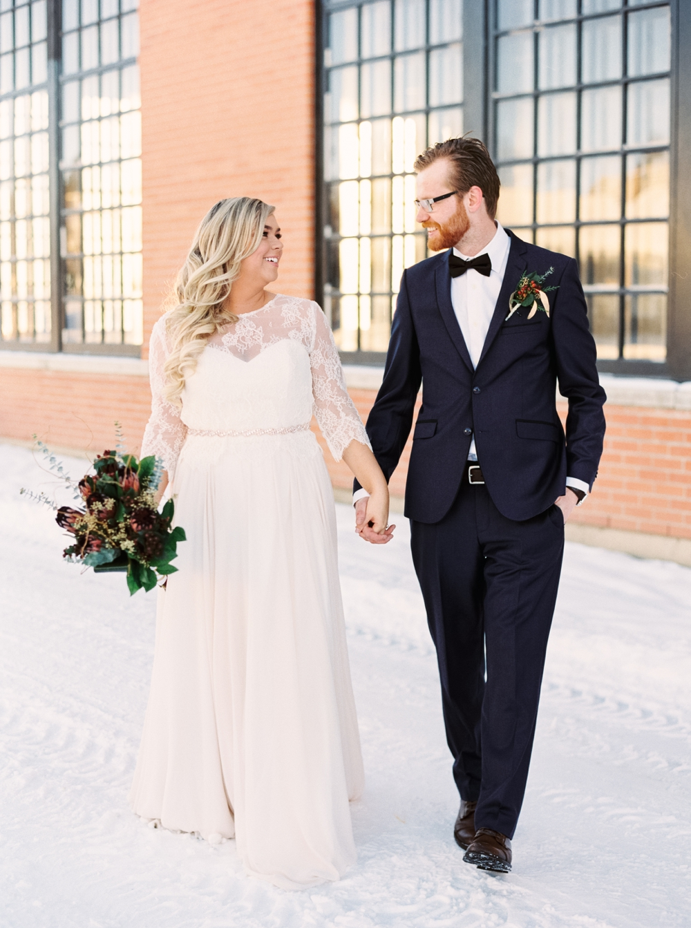 Calgary Wedding Photographers | New years Eve Wedding | Heritage Park guns Dairy Barn Wedding | Blush and Rose Gold | Winter Wedding