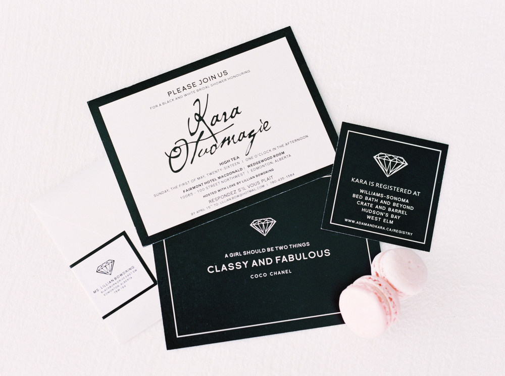 Chanel themed bridal shower invitations best shower