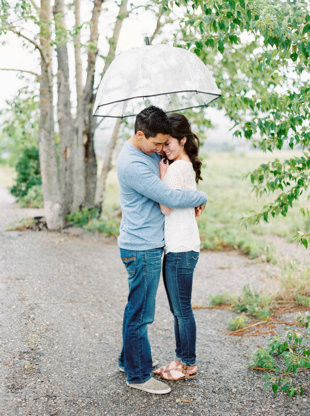 Calgary Wedding Photographers | Nose Hill Park Engagement Session | Rainy Engagement Photos | Engagement Photography