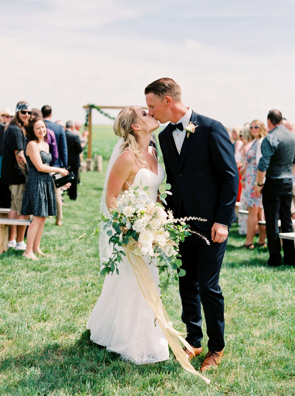 Calgary Wedding Photographers | Willow Lane Barn Olds Wedding | Alberta Wedding Photography | Outdoor Wedding Ceremony | Rustic Wedding | Fine Art Film Photographer | Neutral Color Palette