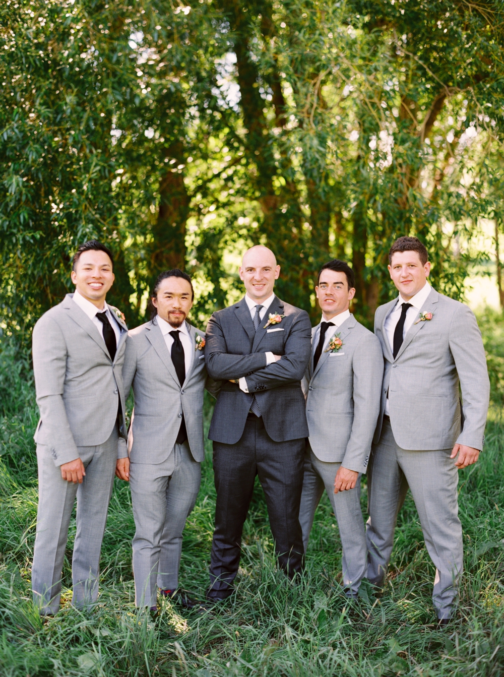 Calgary Wedding Photographer | Meadow Muse Pavilion Wedding | Canmore Photographers | Fish Creek Park | Groomsmen