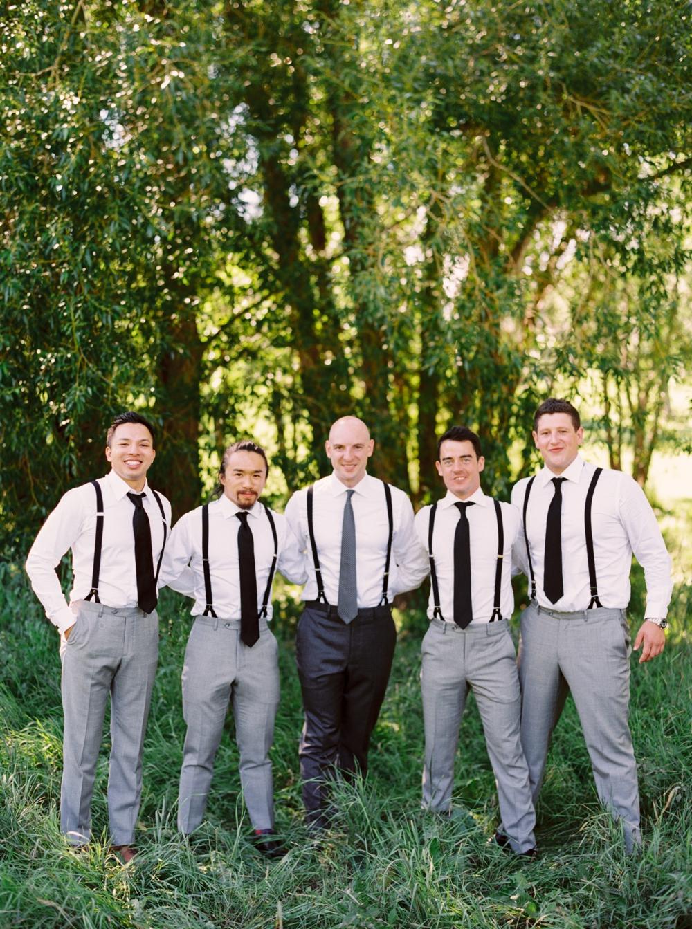 Calgary Wedding Photographer | Meadow Muse Pavilion Wedding | Canmore Photographers | Fish Creek Park | Groomsmen