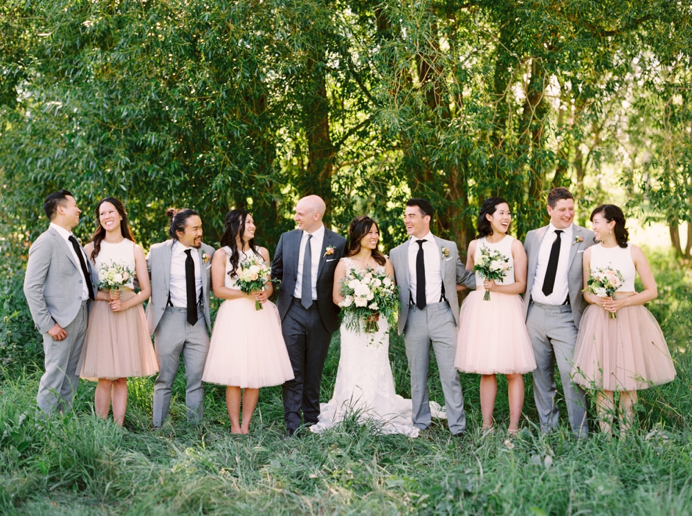 Calgary Wedding Photographer | Meadow Muse Pavilion Wedding | Canmore Photographers | Fish Creek Park | Wedding Party Photos