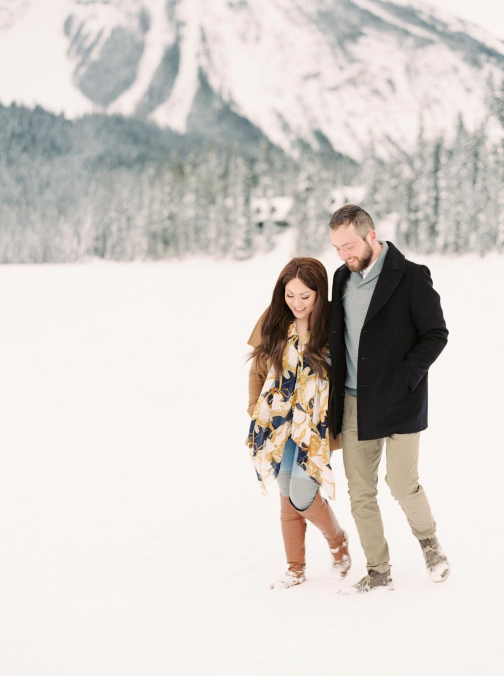 Emerald Lake Lodge Photographers | Calgary Wedding Photographers | Elopement photographer | Rocky Mountain Banff Engagement Session | Justine Milton Photography