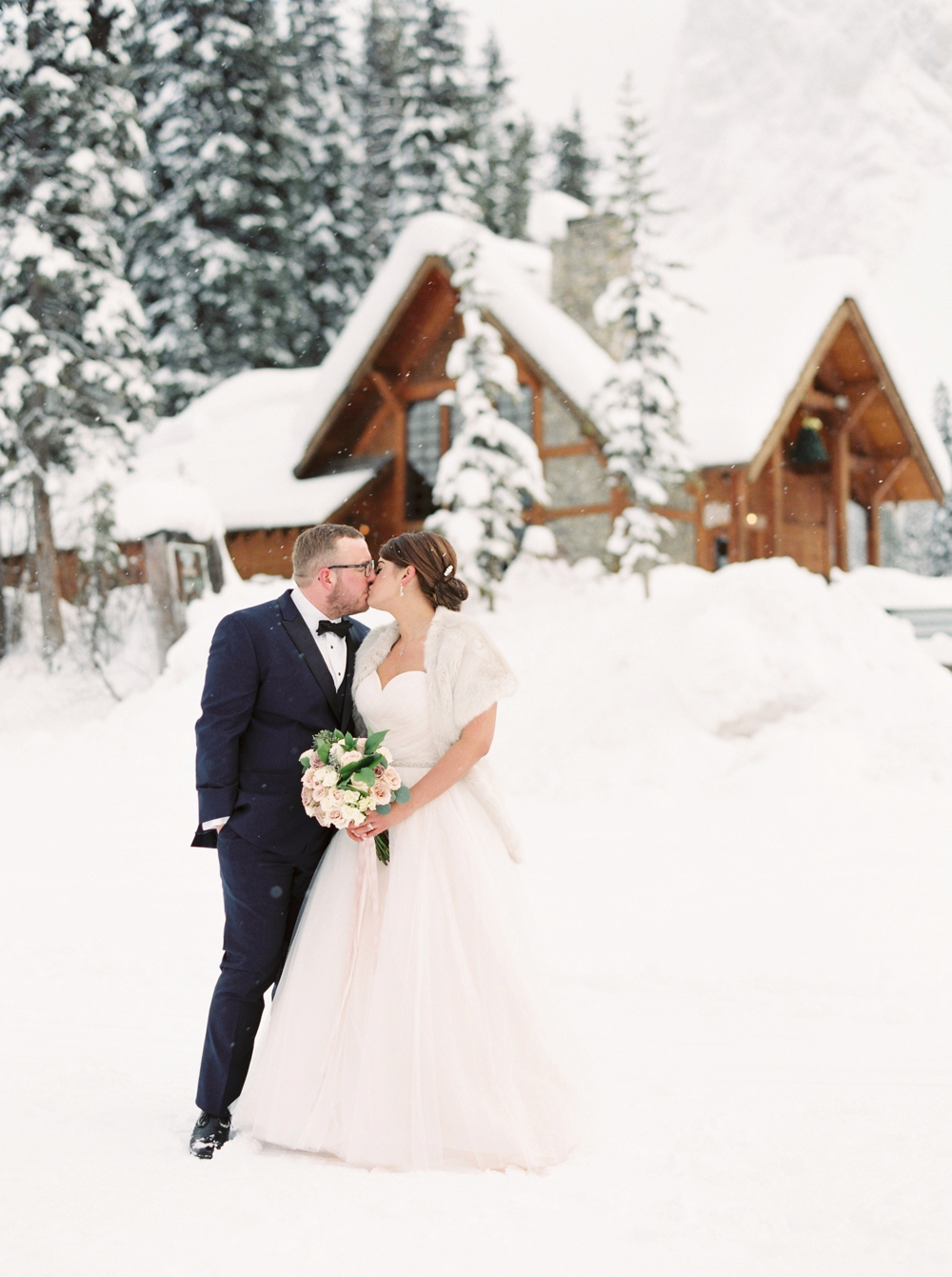 Calgary Wedding Photographers | Banff Fine Art Film Wedding Photography | Emerald Lake Lodge Wedding | Winter Wonderland Wedding