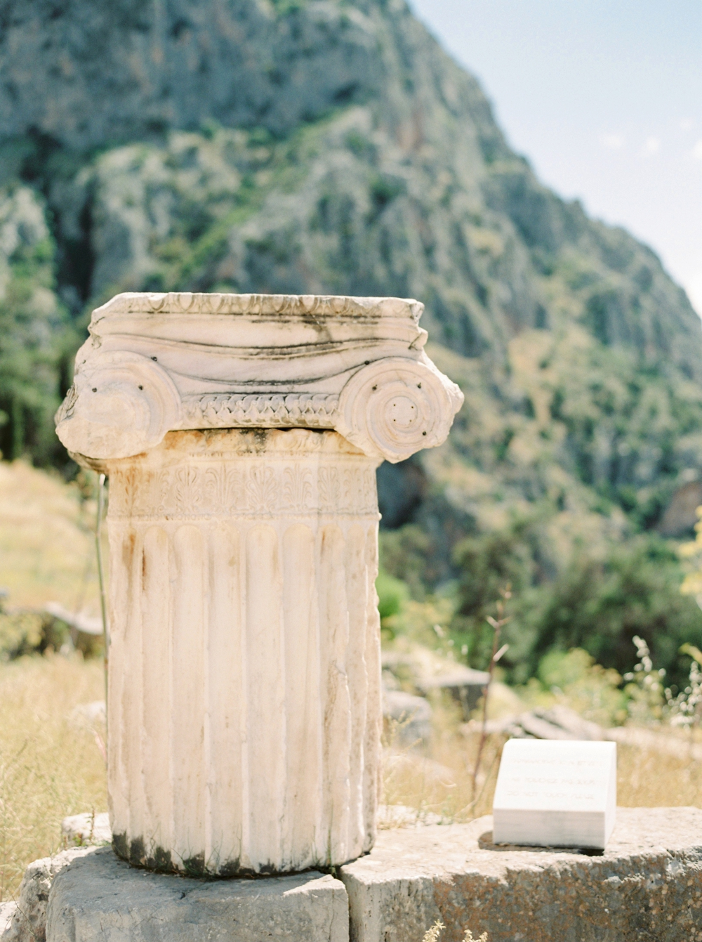 Delphi Ancient Greece Fine Art Film Travel Photography | Greece destination wedding photographers