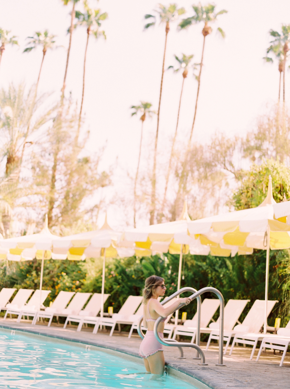 California Wedding Photographers | The Parker Palm Springs | Life Set Sail at the Pool | Canadian Fashion Bloggers