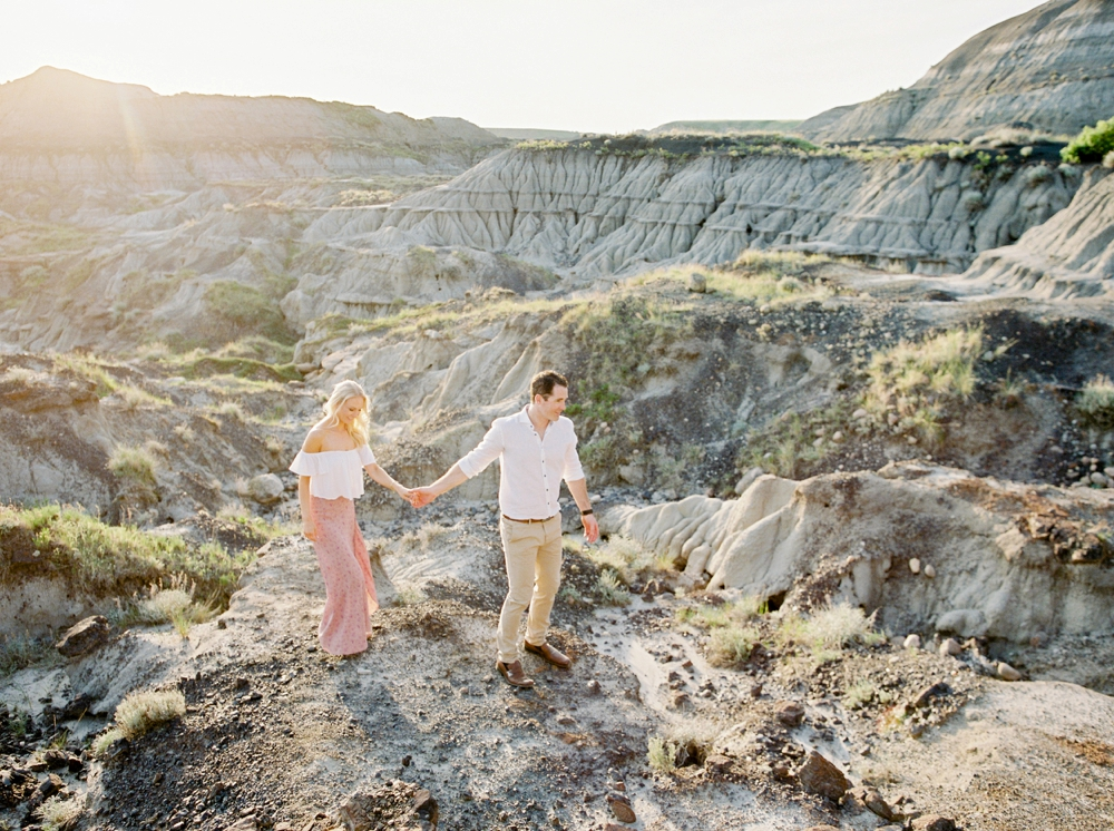 Calgary Wedding Photographers | Drumheller engagement Photography | Fine art film wedding photographer