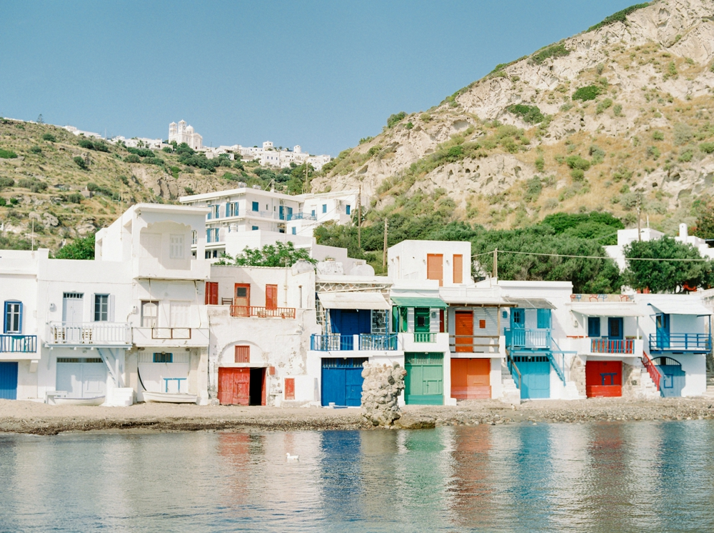 Greece Milos Boat Houses | greece destination wedding photographers | travel photography colored houses