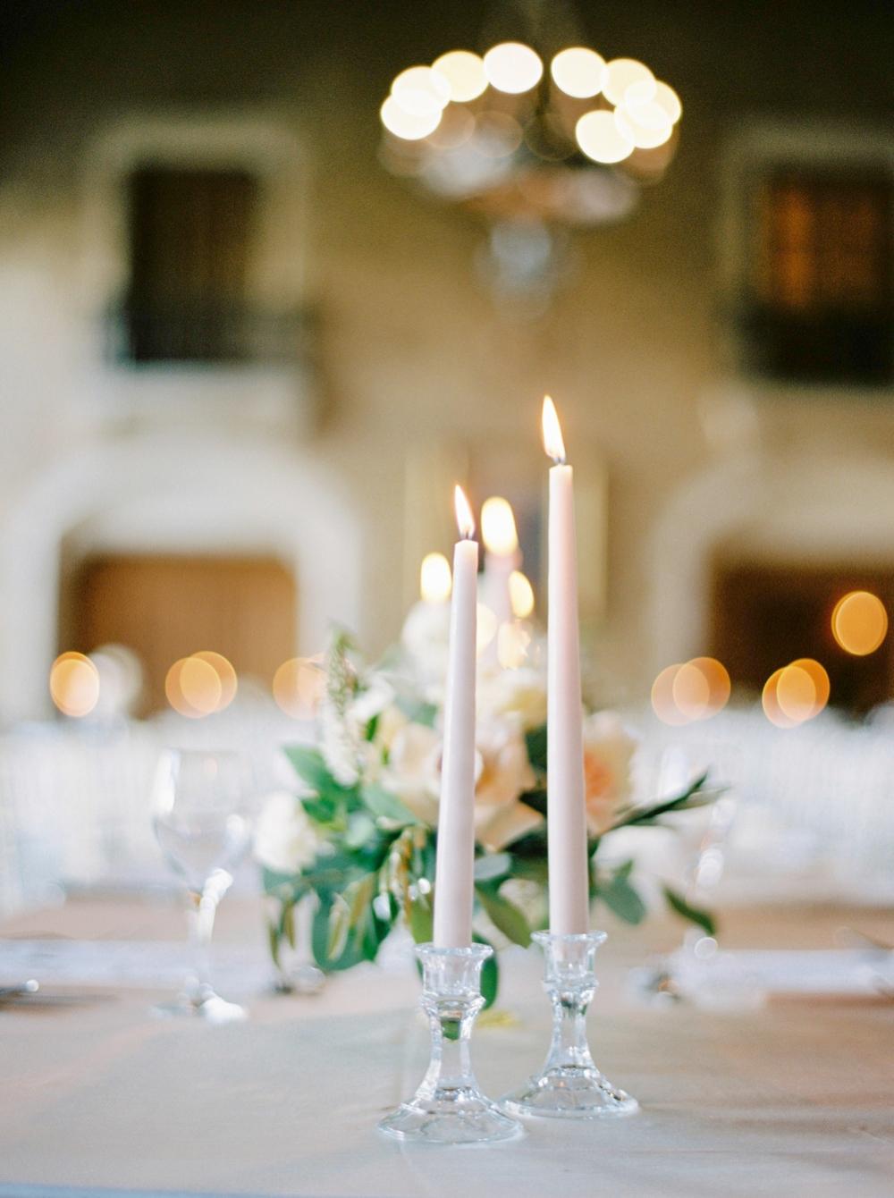 sandstone taper candles | mount stephen hall wedding reception | fairmont banff springs hotel wedding ceremony canadian rocky mountains | banff wedding photographers