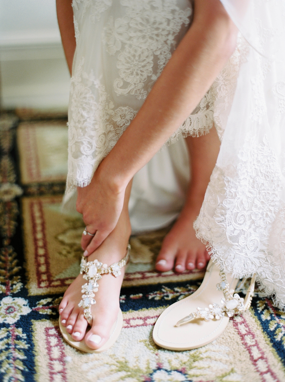 bride getting dressed bella belle shoes | Banff springs wedding photographers | fairmont banff rocky mountain wedding | Justine Milton fine art film Photography