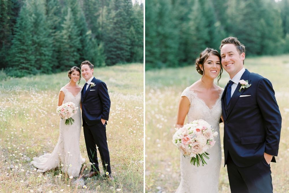 bride and groom formals | Banff springs wedding photographers | fairmont banff rocky mountain wedding | Justine Milton fine art film Photography