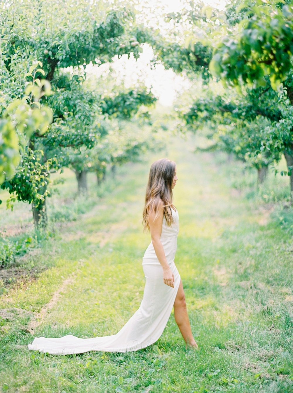 pear orchard bridal session | Kelowna wedding photographer | okanagan wedding photographer | fine art film photography Justine Milton