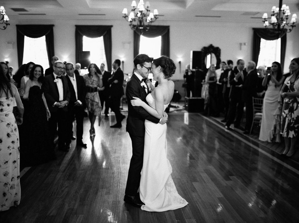 Bride and Groom First Dance| Jewish Wedding | New York Wedding Photographers | Brooklyn Dyker Heights Golf course | Justine Milton fine art film wedding photographers