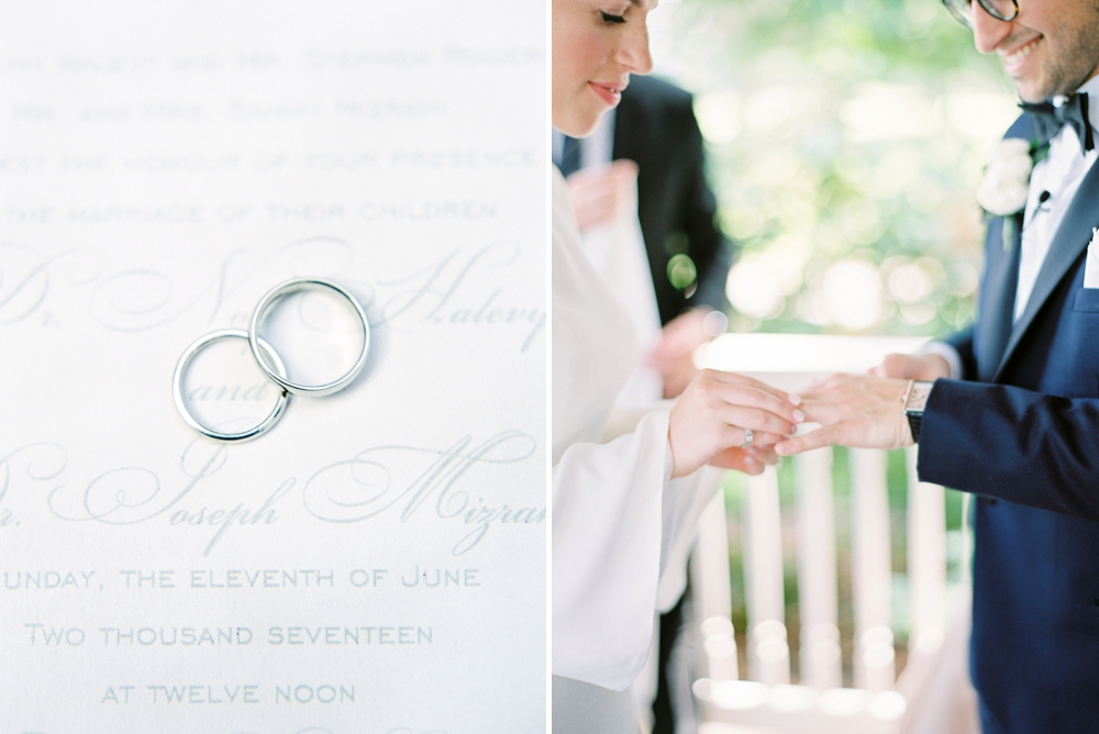Wedding rings | Jewish Wedding | New York Wedding Photographers | Brooklyn Dyker Heights Golf course | Justine Milton fine art film wedding photographers