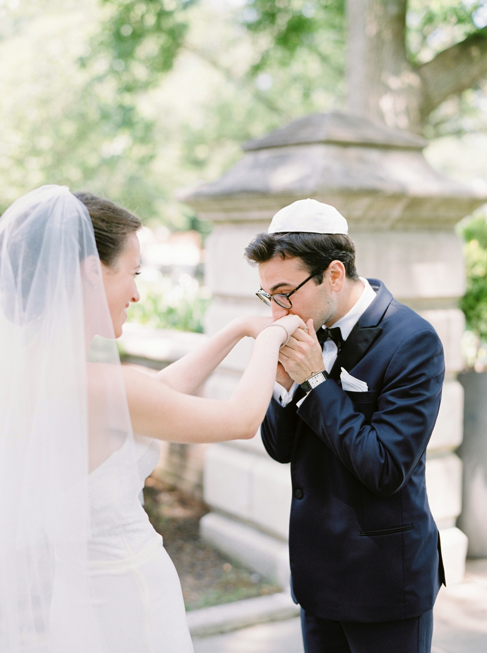 first look | Jewish Wedding | New York Wedding Photographers | Brooklyn Dyker Heights Golf course | Justine Milton fine art film wedding photographers