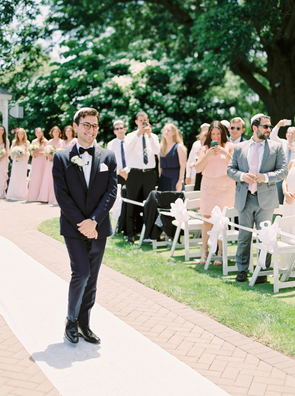 Jewish Wedding ceremony | New York Wedding Photographers | Brooklyn Dyker Heights Golf course | Justine Milton fine art film wedding photographers