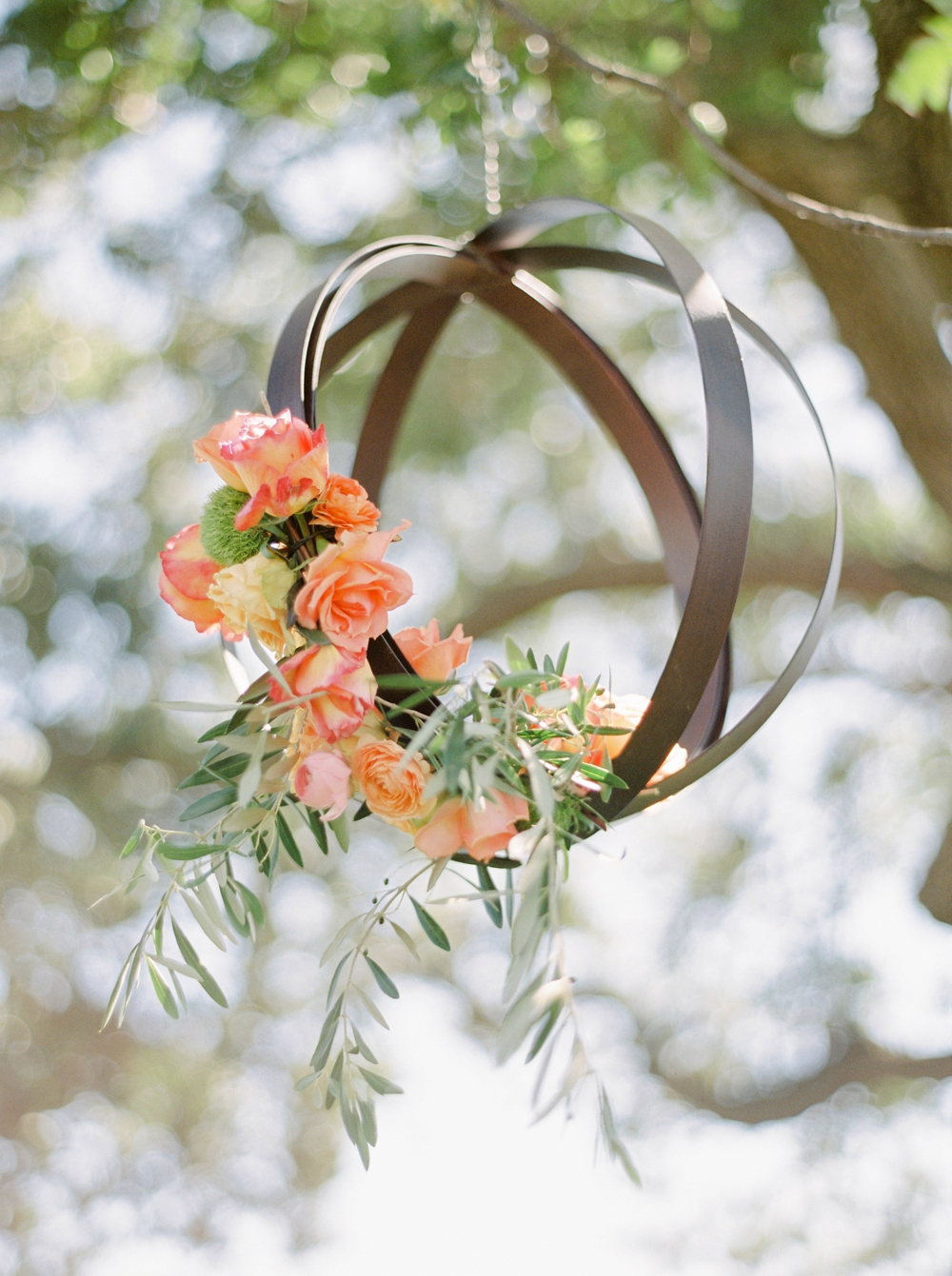 California Gainey Vineyard Wedding Welcome Reception | spring summer hanging wedding decor