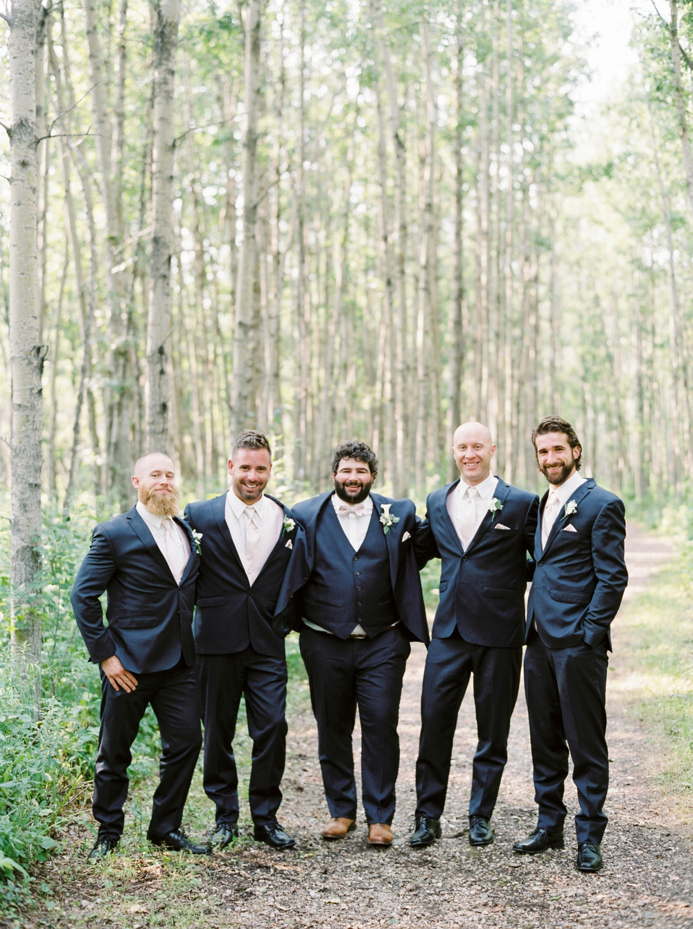 Edmonton Wedding Photographers | groomsmen portraits Wizard Lake | Justine Milton Fine Art Film Photography