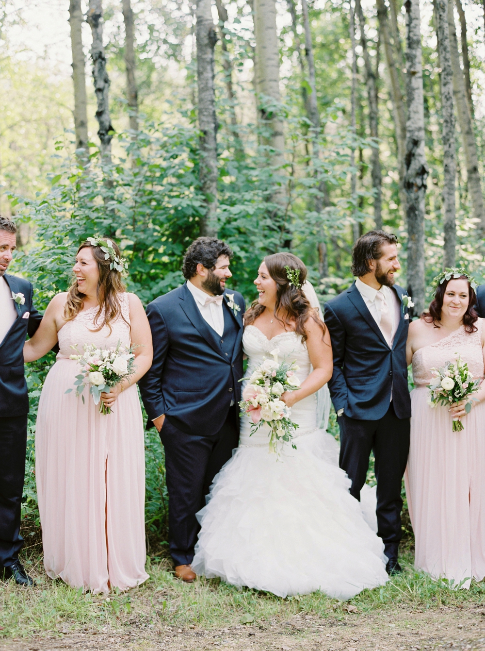 Edmonton Wedding Photographers | wedding party portraits Wizard Lake | Justine Milton Fine Art Film Photography