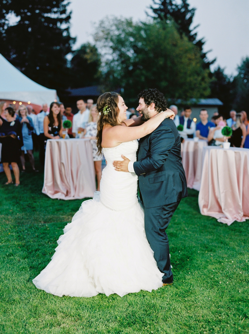 Edmonton Wedding Photographers |  tented wedding reception Wizard Lake | Justine Milton Fine Art Film Photography