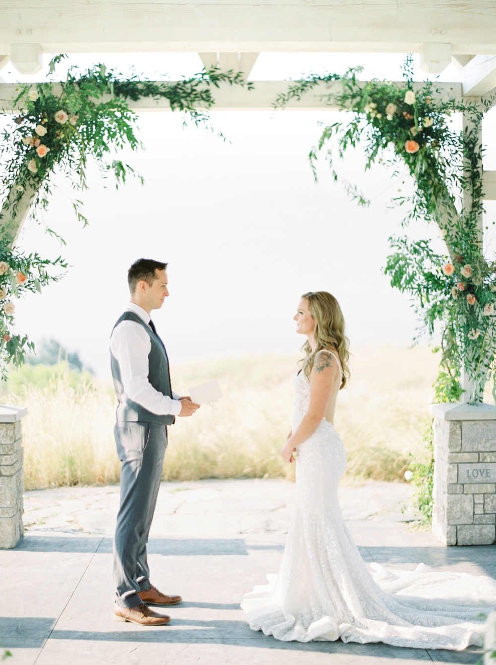 Sanctuary Gardens Kelowna Wedding | Elopement Photography | Wedding Ceremony | Justine Milton Fine Art Film Wedding Photographers