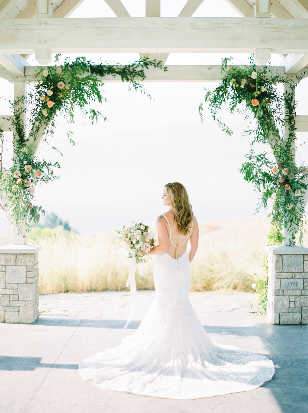 Sanctuary Gardens Kelowna Wedding | Elopement Photography | Bridal Portraits | Justine Milton Fine Art Film Wedding Photographers