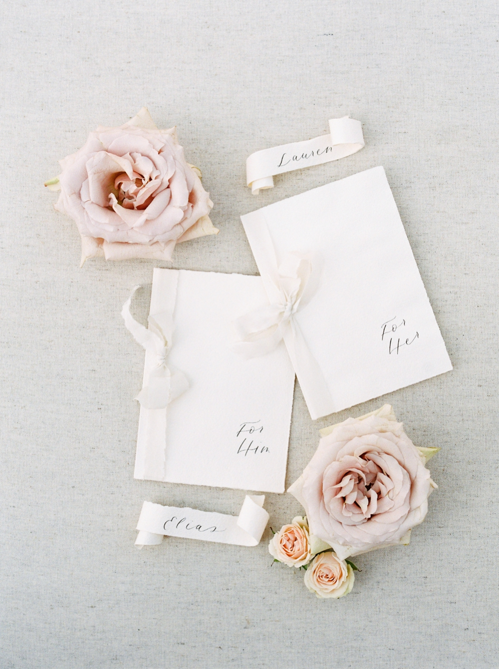 Sanctuary Gardens Kelowna Wedding | Elopement Photography | Calligraphy wedding stationery and vow books | Justine Milton Fine Art Film Wedding Photographers