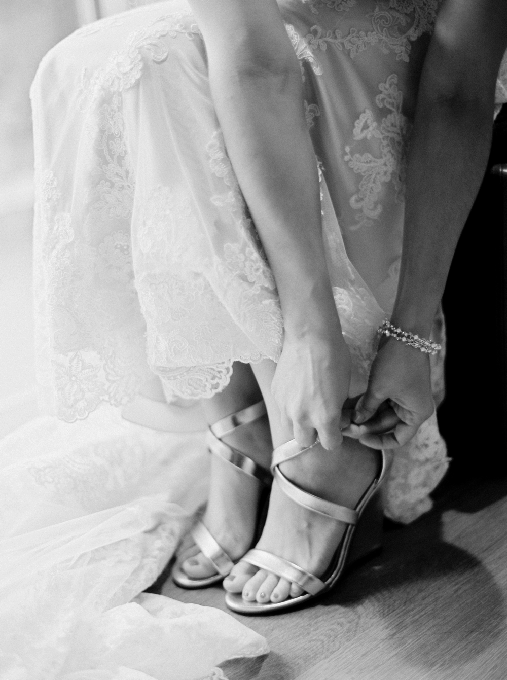 Banff Wedding Photographers | bride getting ready | Justine Milton fine art film photographers