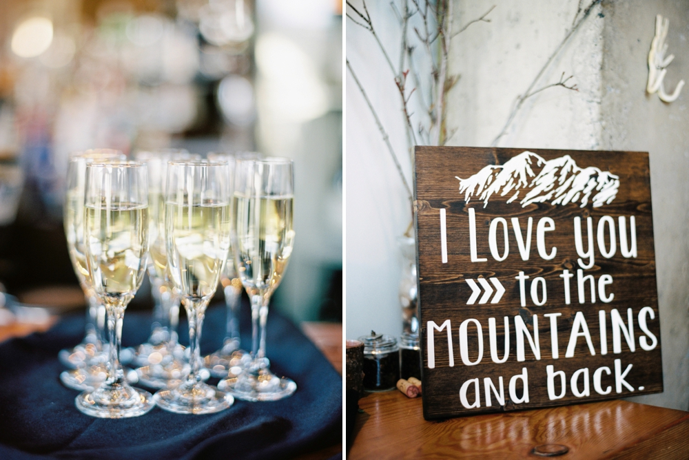 Banff Wedding Photographers | Banff tunnel mountain reservoir | The Bison Restaurant Banff Wedding Reception Decor | Justine Milton fine art film photographers