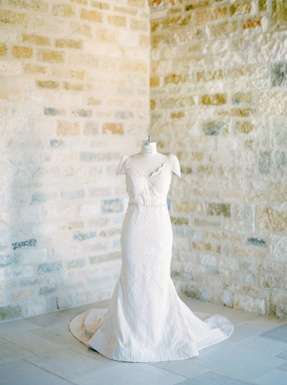 Sunstone Villa California Wedding | Justine Milton Fine Art Film Photographers | Wedding Dress