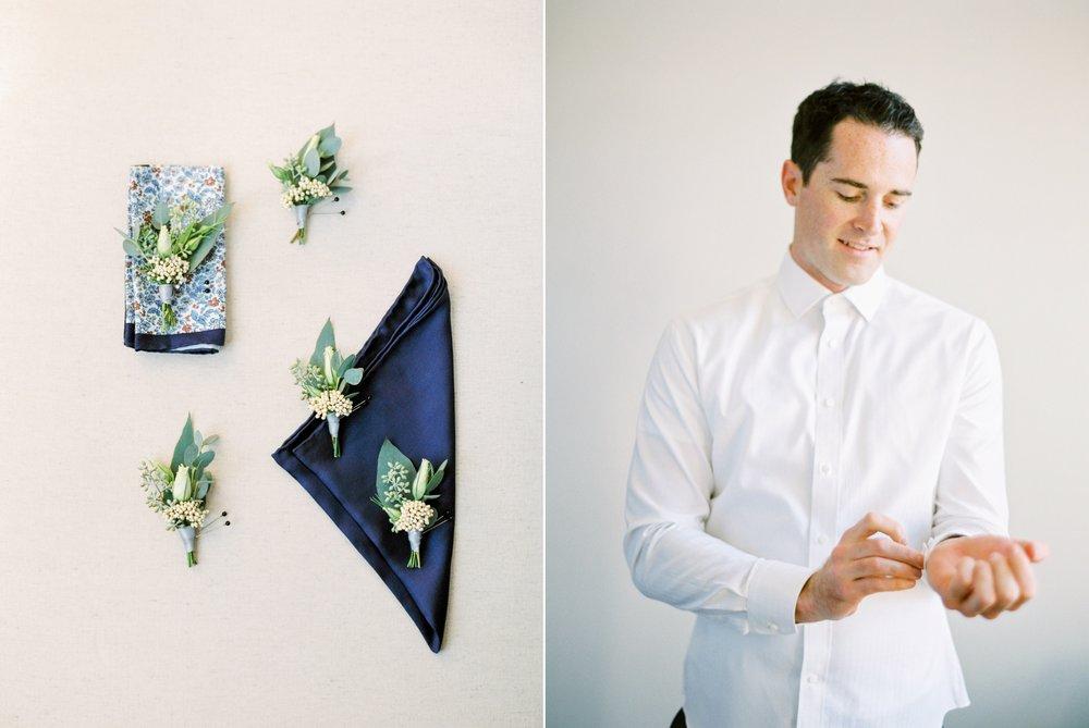 Kelowna wedding photographers | hotel eldorado wedding photographer | justine milton fine art film photography | groom getting ready