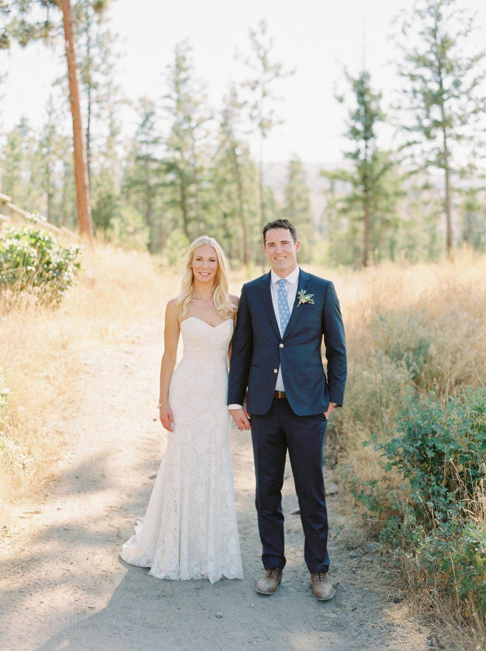 Kelowna wedding photographers | hotel eldorado wedding photographer | justine milton fine art film photography | bride and groom | bride and groom portrait | bride and groom holding hands